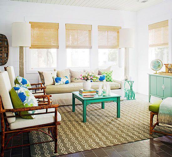 Living Room Decor Bright Pops Of