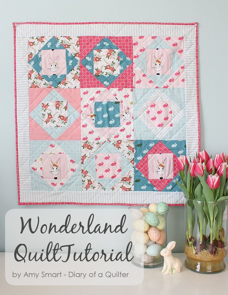 Best Ideas For Diy Crafts Square In Square Mini Quilt Tutorial By
