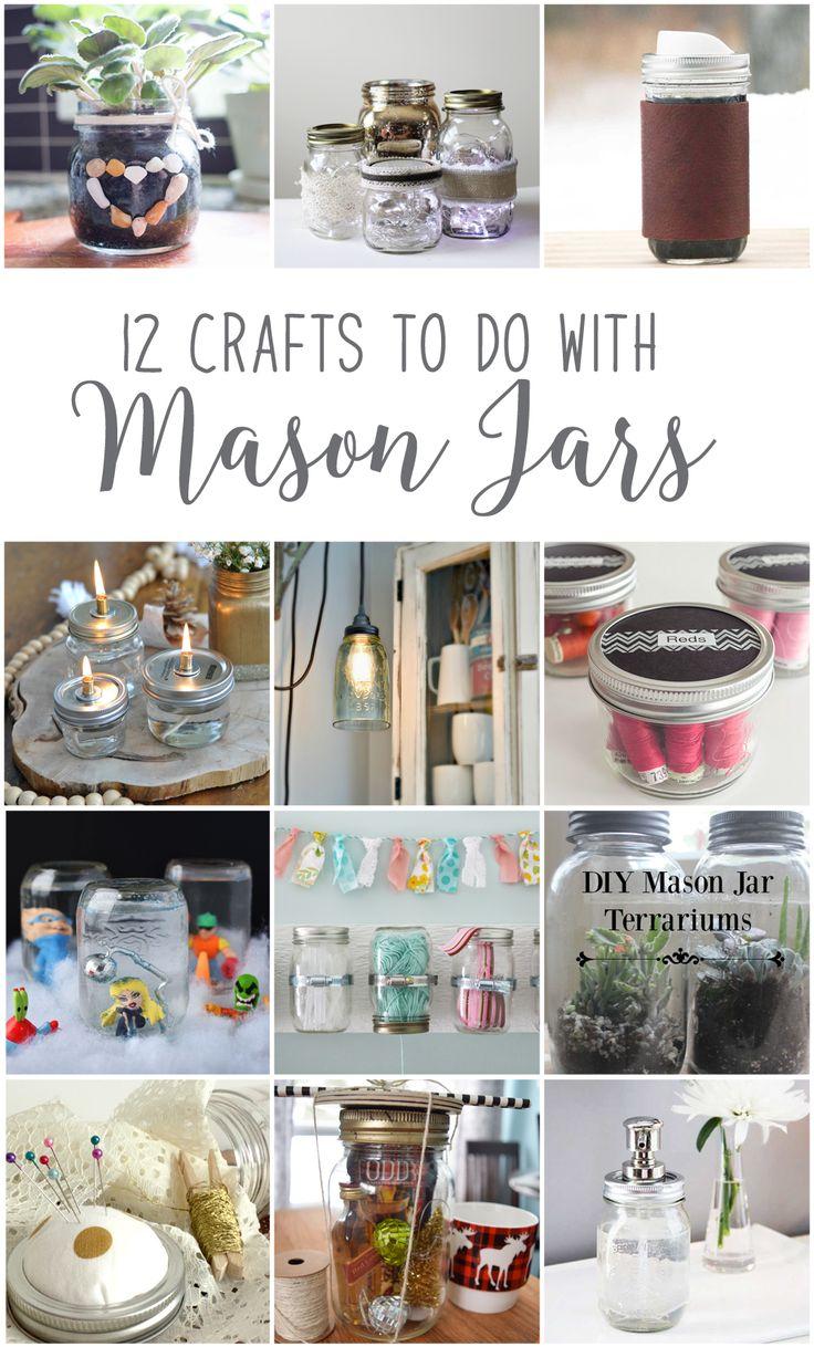 Diy Home : 12 Unique Mason Jar DIY Craft Ideas! #12MonthsofDIY ...