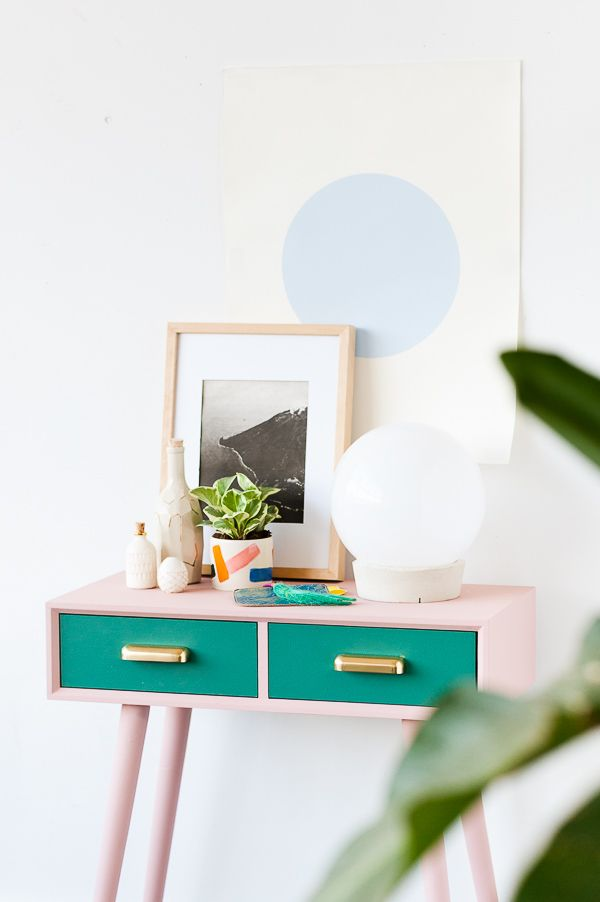 Diy home oh make me over a mid century entryway table for Build me a home