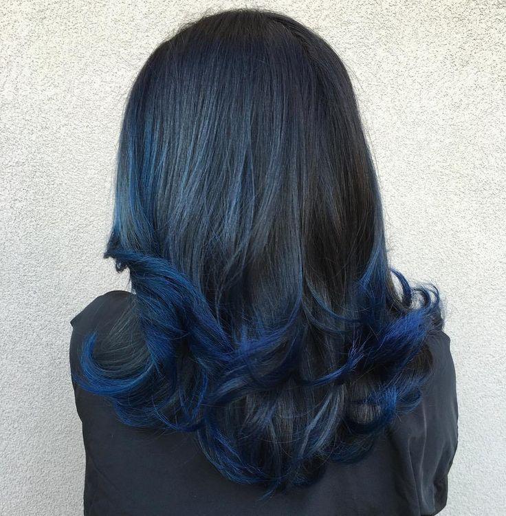 Hair Styles Ideas Blue Dip Dye For