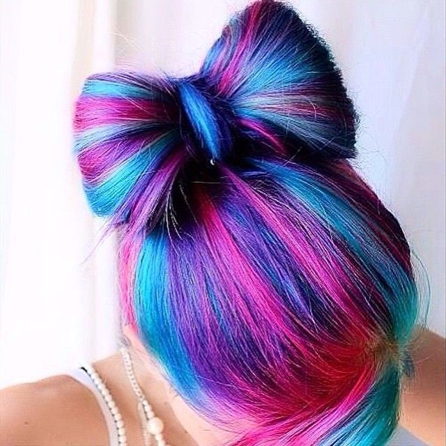 Pink Purple Hair Bun