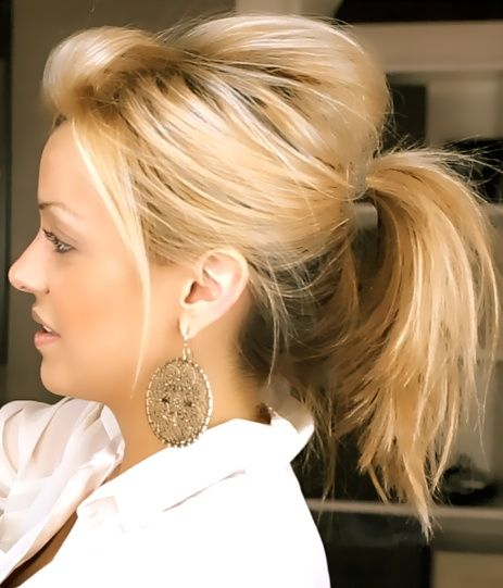 Hair Styles Ideas Six Messy Cute Ponytails For Short Hair The