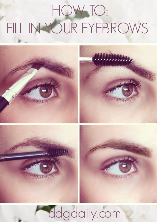 Makeup Tips Ddg Diy How To Fill In Your Eyebrows