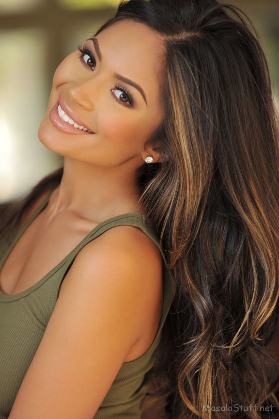 MakeUp Tips: love the hair. Dark brown hair with caramel-y ...