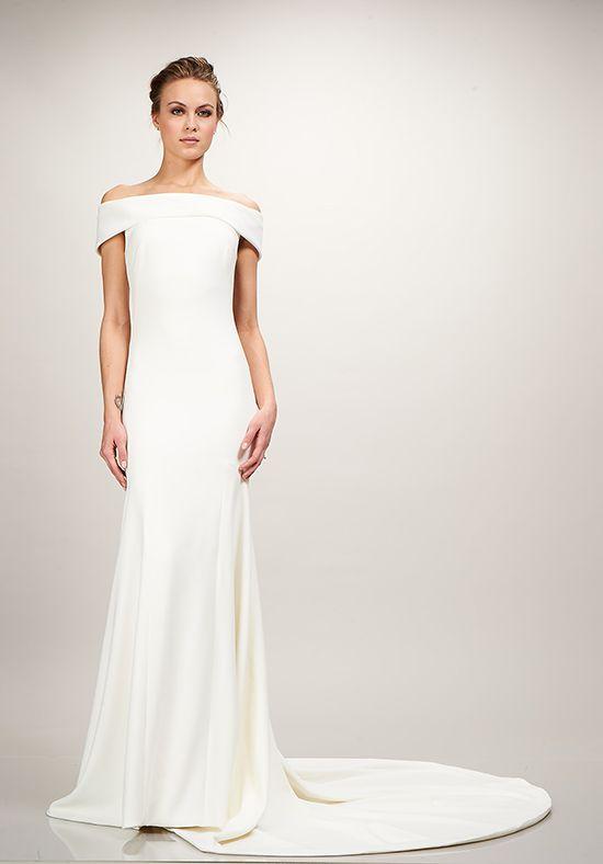 Wedding Dresses Off The Shoulder Stretch Crepe Mermaid