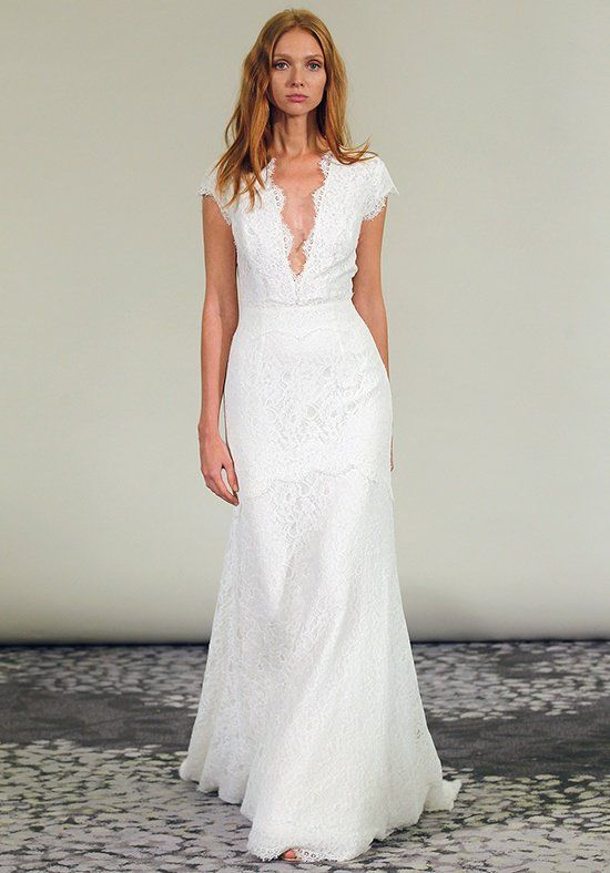 Wedding Dresses Lace Wedding Dress With Plunging V Neckline And