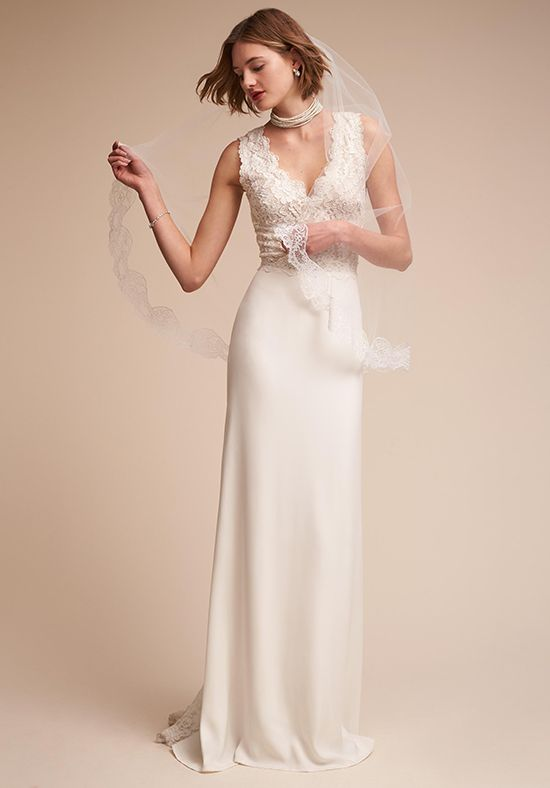 Wedding dresses sheer bodice and lace wedding dress from for Sheer bodice wedding dress