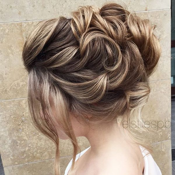 Pretty Half Up Down Wedding Hairstyle Partial Updo Bridal Ideas