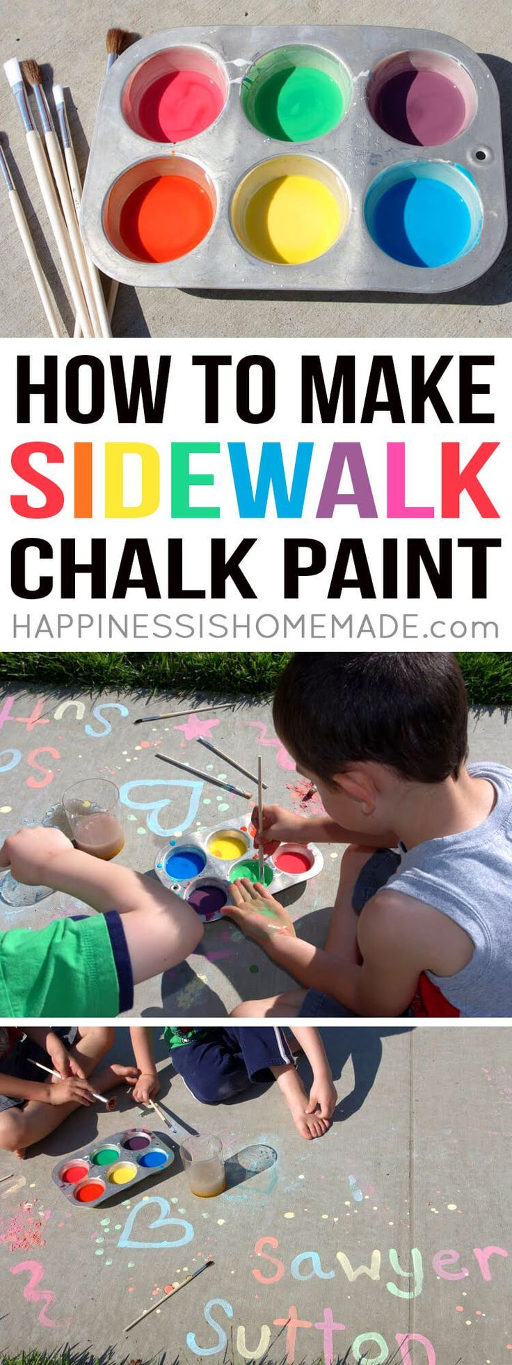 Learn How To Make Sidewalk Chalk Paint And Keep Your