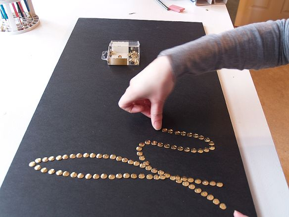 diy home create words with brass push pins and frame quick