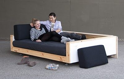 Diy Sofa Inspiration For A Twin Mattress Bed Very Child Proof