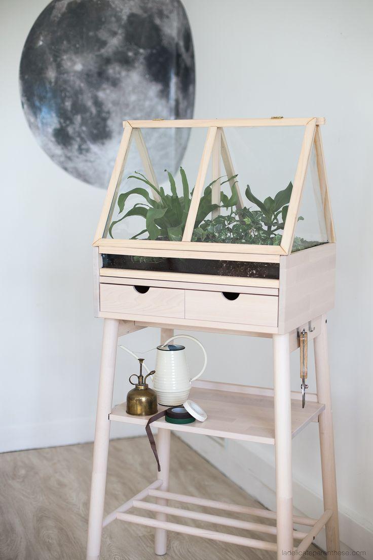diy home diy une serre d 39 int rieure dans un meuble ikea la d licate parenth se. Black Bedroom Furniture Sets. Home Design Ideas
