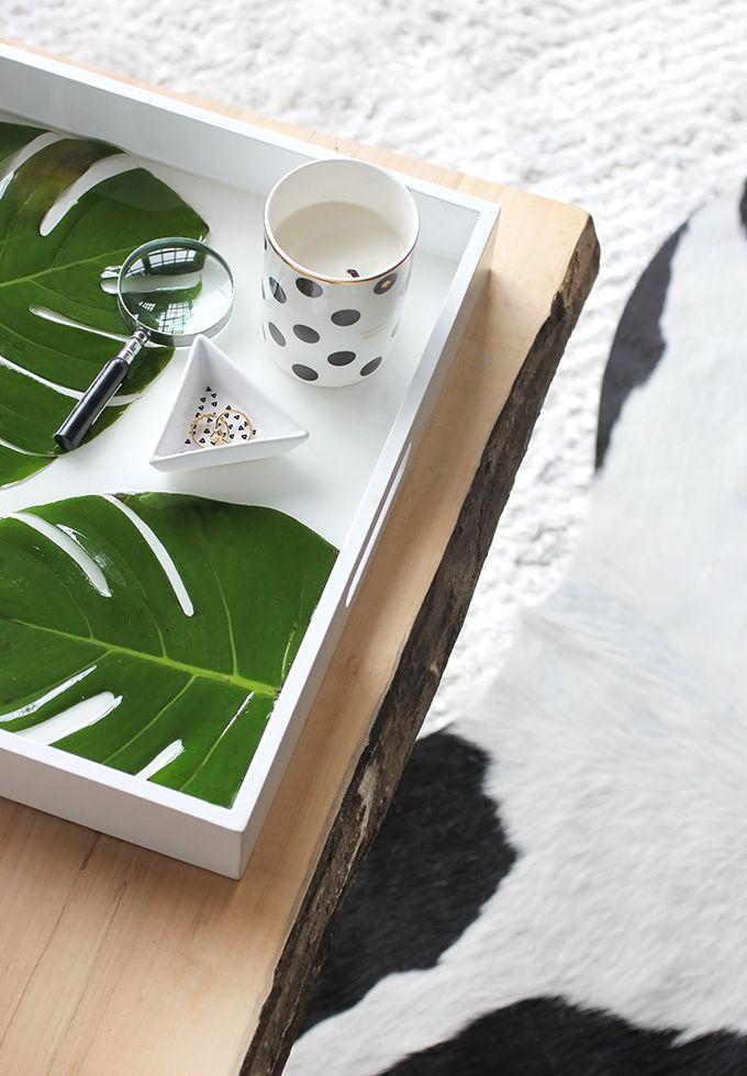 Diy Home My Diy Monstera Palm Leaf Resin Tray Listfender