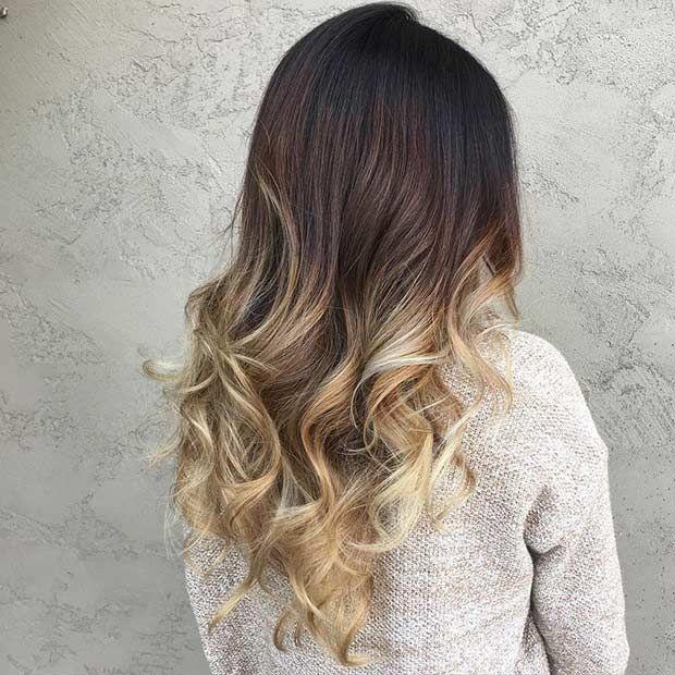 Hair Styles Ideas Blonde Balayage Ombre On Dark Hair