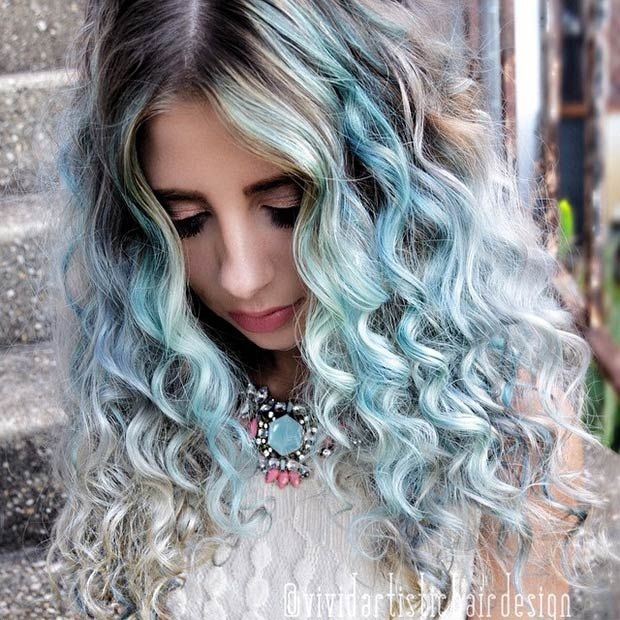 Hair Styles Ideas Curly Light Blue Hair Listfender Leading Inspiration Magazine Shopping Trends Lifestyle More
