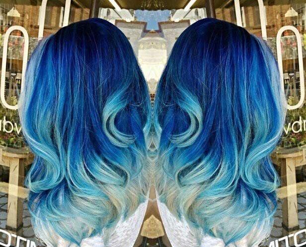 Dark Hair With Blue Tips 48489 Pixie Cut Colour Pinterest