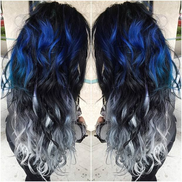 Hair Styles Ideas Dark Blue To Black And Grey Ombre Listfender Leading Inspiration Magazine Shopping Trends Lifestyle More