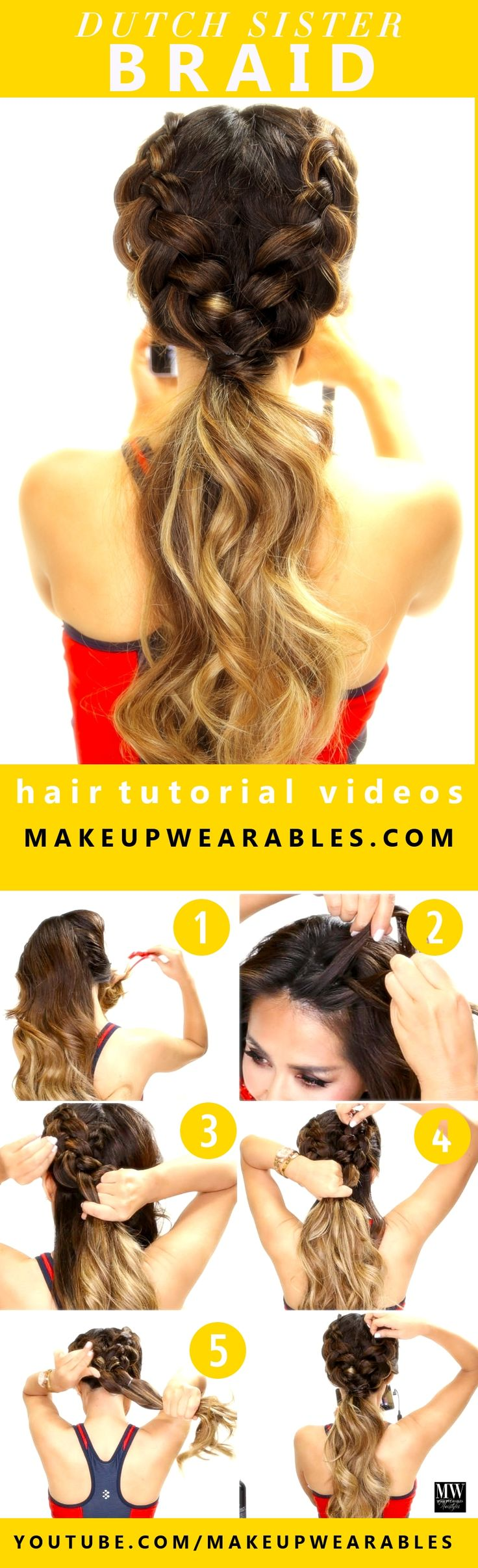 Hair Styles Ideas How To Easy Dutch Braid Workout Hairstyles For