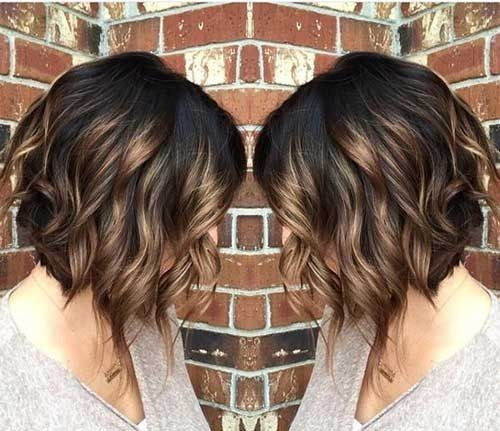 Hair Styles Ideas Ombre Curly Bob Haircut Beloved Brunette Bob