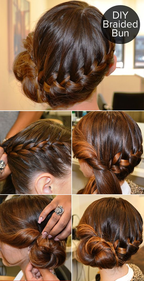 Hair Styles Ideas This Braided Bun Can Be Yours In 5 Easy Steps
