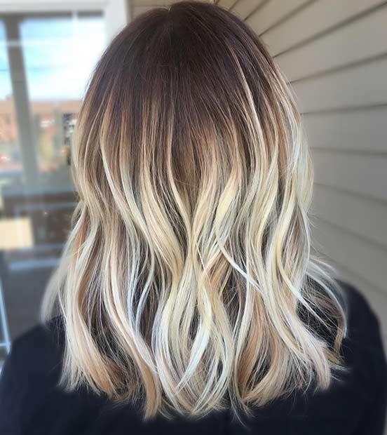 Hair Styles Ideas Vanilla Blonde Balayage On Mid Length Hair Listfender Leading Inspiration Magazine Shopping Trends Lifestyle More