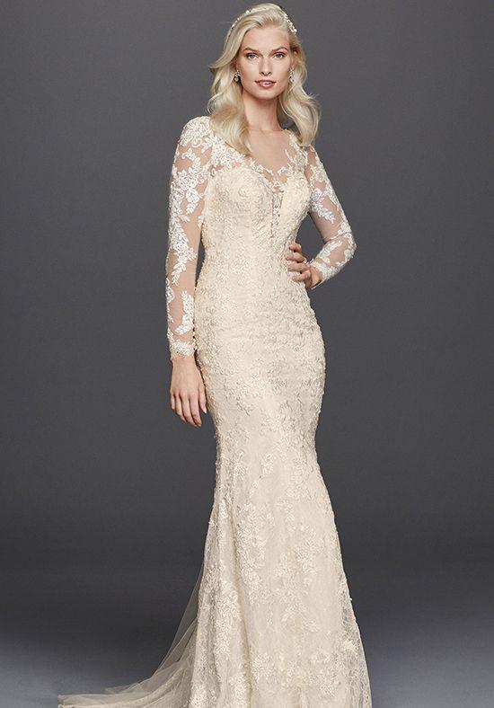 Wedding dresses lace sheath wedding dress with plunging for Sheath style wedding dress