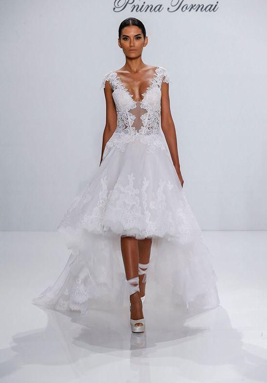Wedding dresses tea length wedding dress with natural for Low waist wedding dress