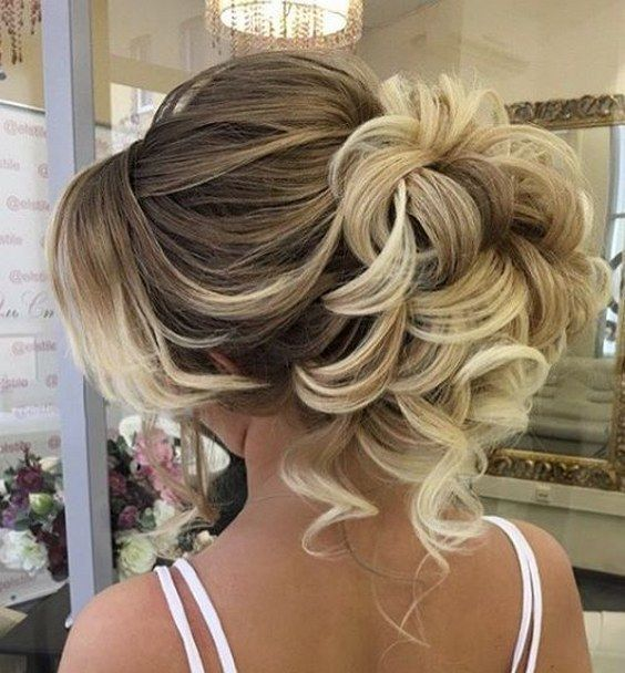 Wedding Hairstyles Curly Updo Wedding Hairstyle Via Elstile Www