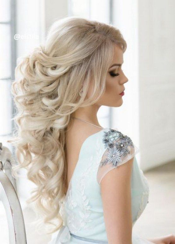 Wedding Hairstyles Pulled Back Curly Wedding Hairstyle For Long