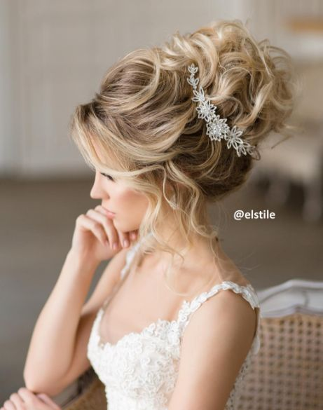 Wedding Hairstyles Elstile Messy Wedding Updo Hairstyle Deer
