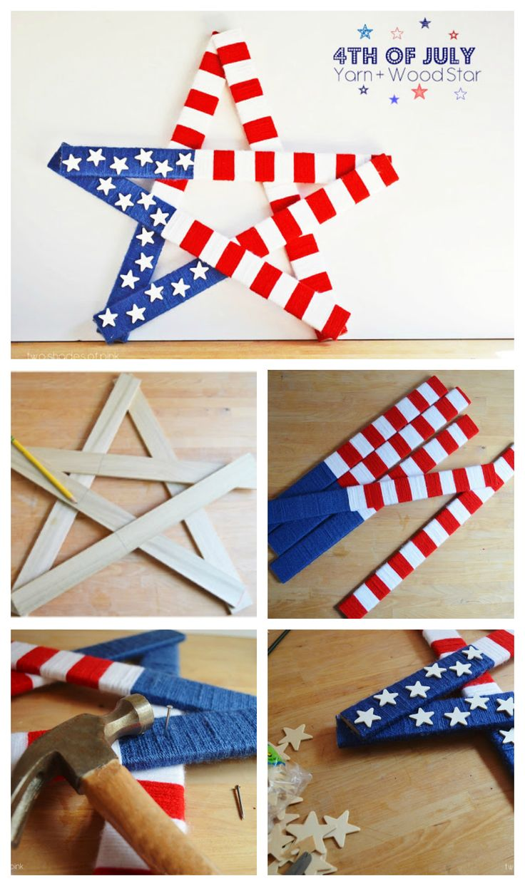 Best Ideas For Diy Crafts 4th Of July Yarn And Wood Star 4th Of
