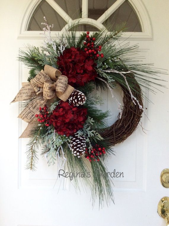 Diy Home Christmas Wreath Winter Wreath Christmas Wreath For Front