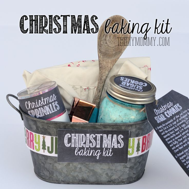 Diy Home Gift Basket Idea A Christmas Baking Kit In A Tin Put