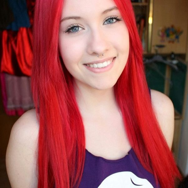 Hair Styles Ideas Beautiful Bright Red Hair Color Shown By Our Diy