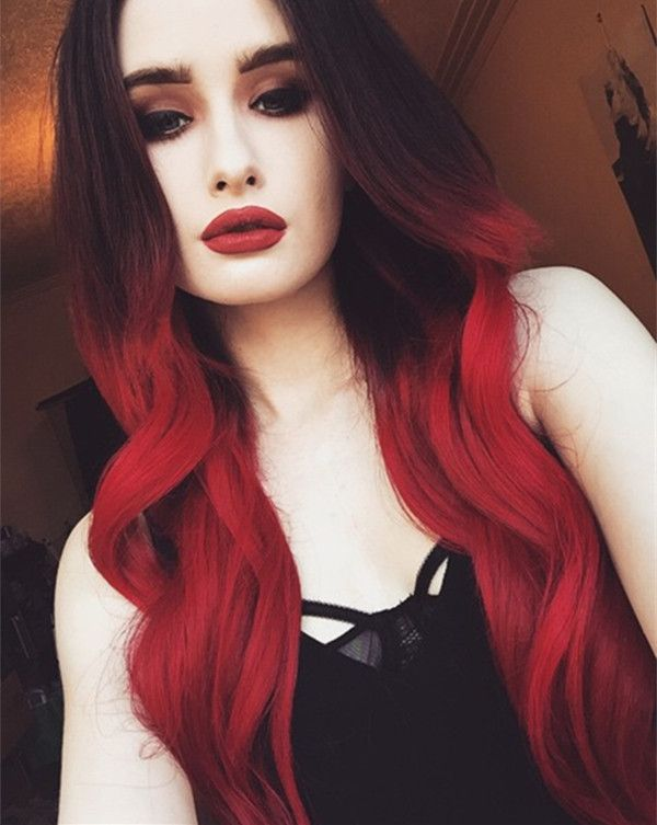 Hair Styles Ideas Black To Red Hair Colorincredible Nice Bright