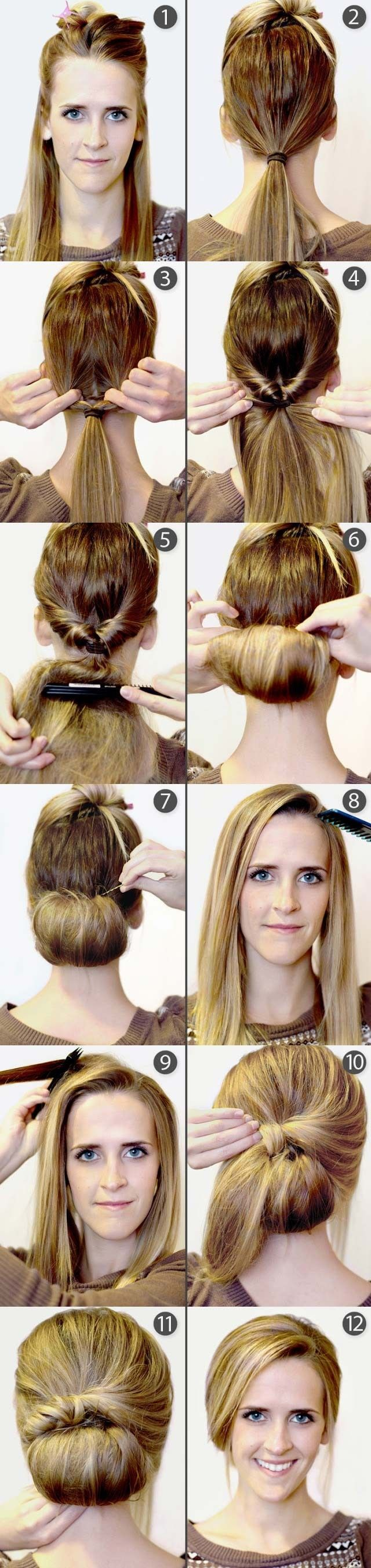 Hair Styles Ideas Vintage Updo Hairstyle Tutorial Listfender
