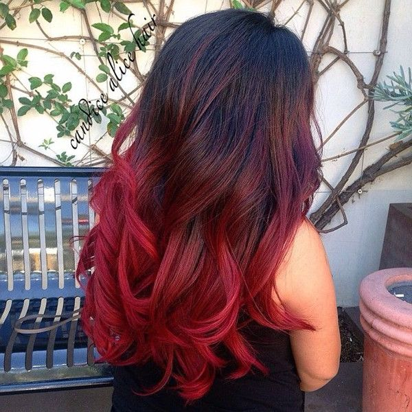 Hair Styles Ideas Wonderful Bright Red Ombre Hair Color For Dark