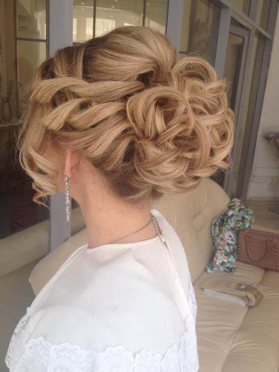 Wedding Hairstyles Long Wavy Wedding Updo Hairstyle 2 Via