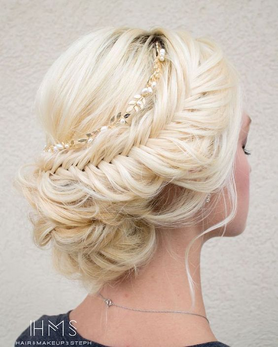 Wedding Hairstyles Braided Wedding Hairstyle Updo Via Hair