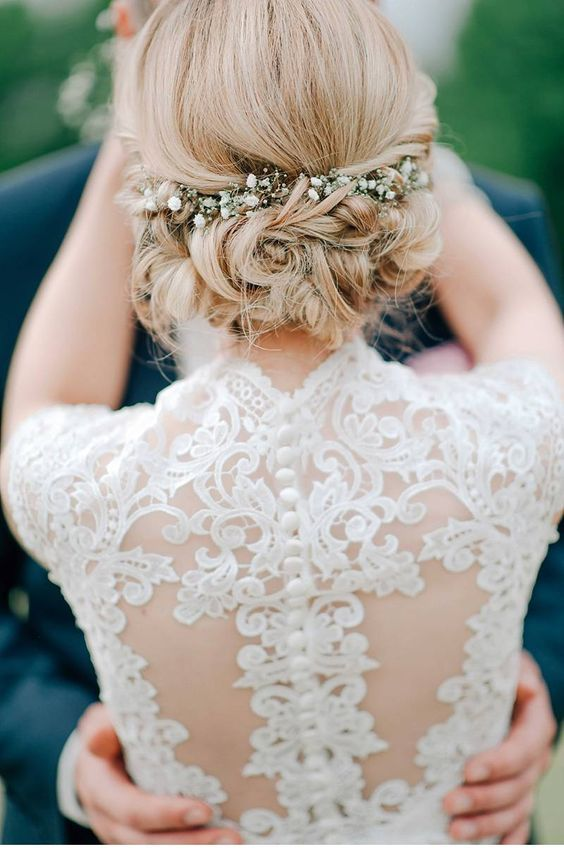 Soft Waves With Braid Wedding Hairstyles