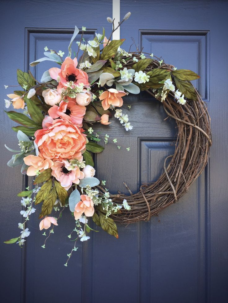 Diy Home Spring Wreaths Spring Door Decor Spring Decorating