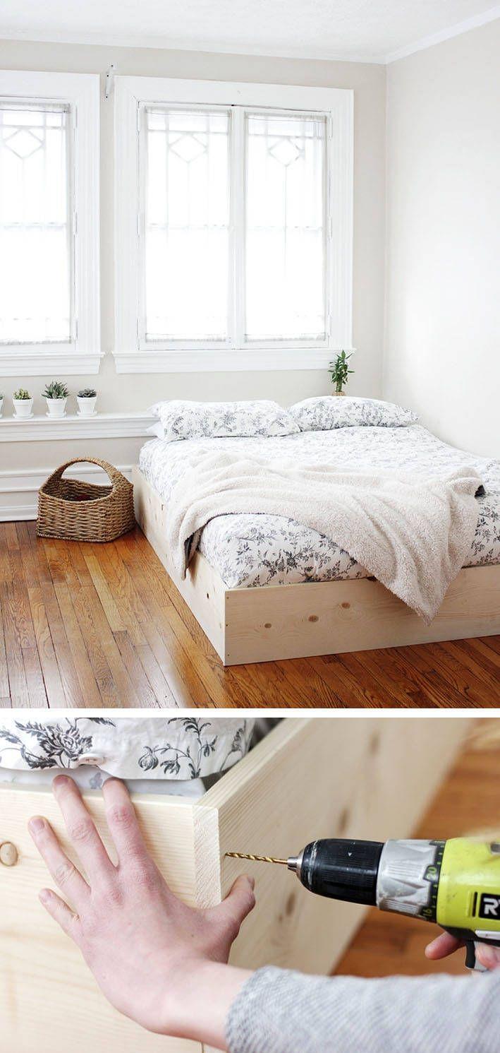 Großartig Bett Minimalistisch Foto Von Diy Home :
