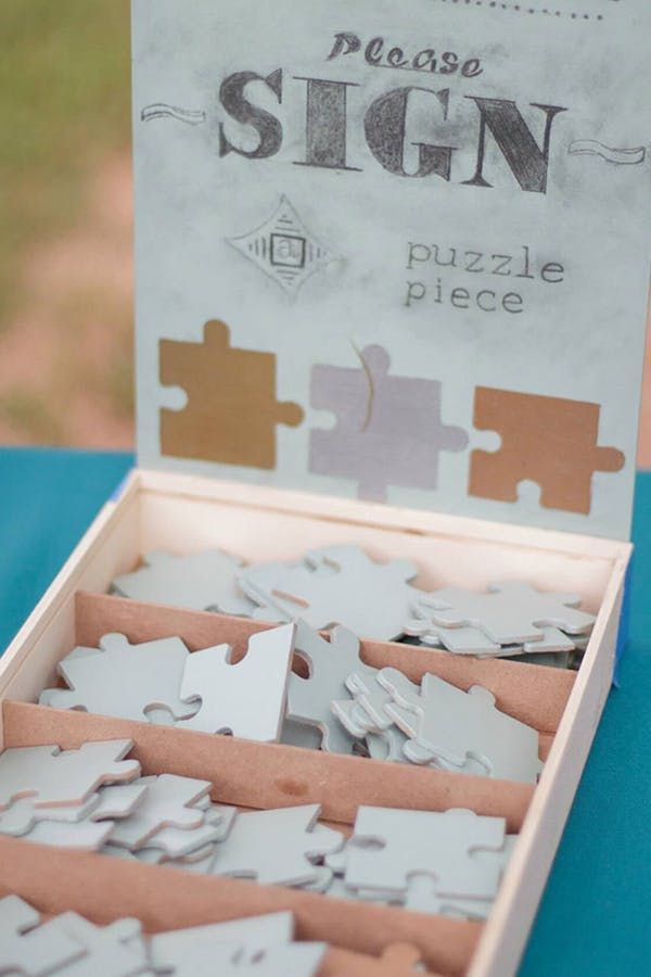 Life Hacks Have Your Wedding Guests Write Well Wishes On The Back Of Puzzle Pieces 9 Weddi