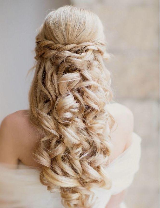 Wedding Hairstyles : Classy and Elegant Half Up Half Down Wavy ...