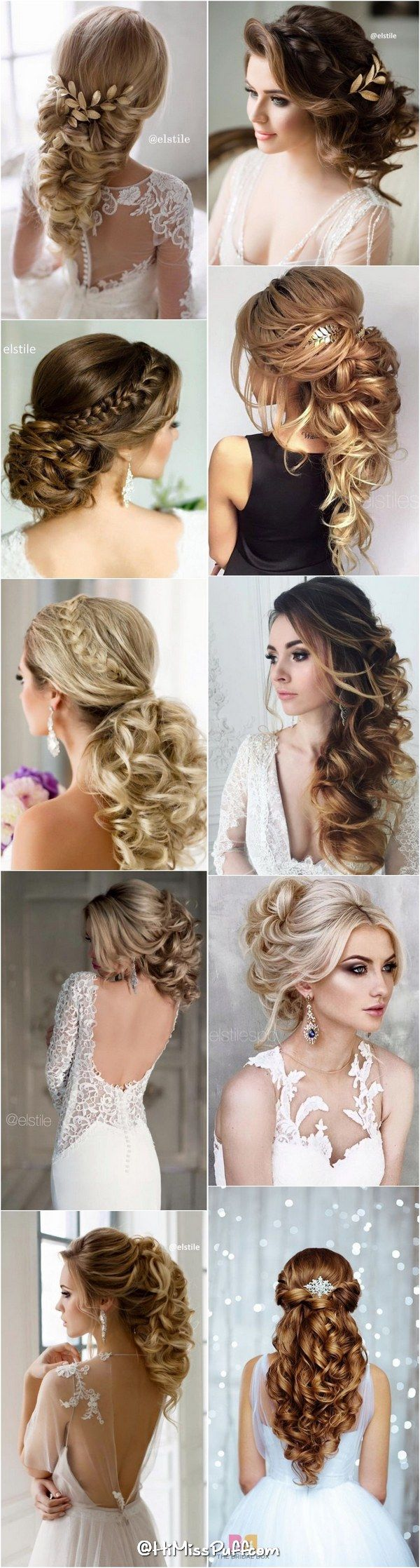 649 Best Wedding Hair Ideas Images On Pinterest Bridal Hairstyles And Styles