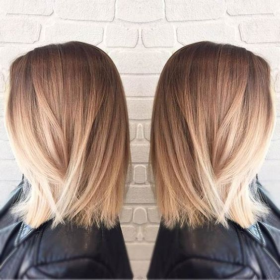 Straight Long Bob Blonde Balayage Listfender Leading