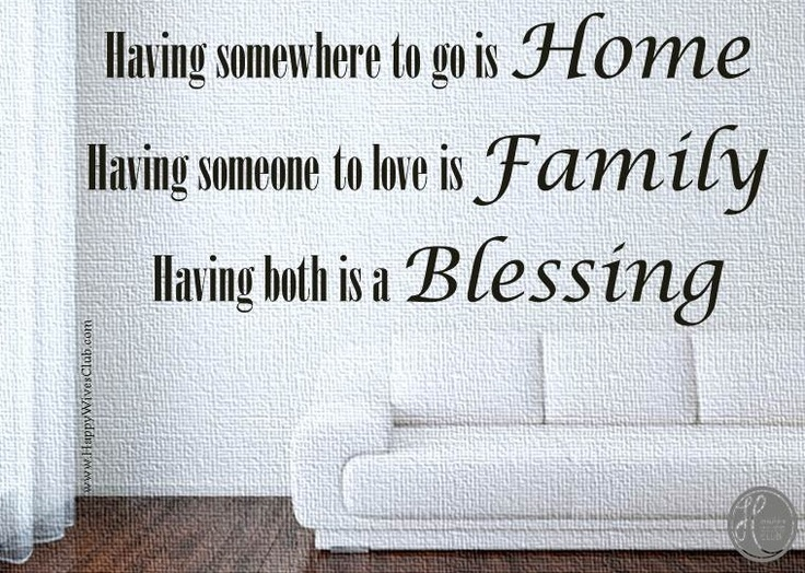 love quotes home family endless blessings