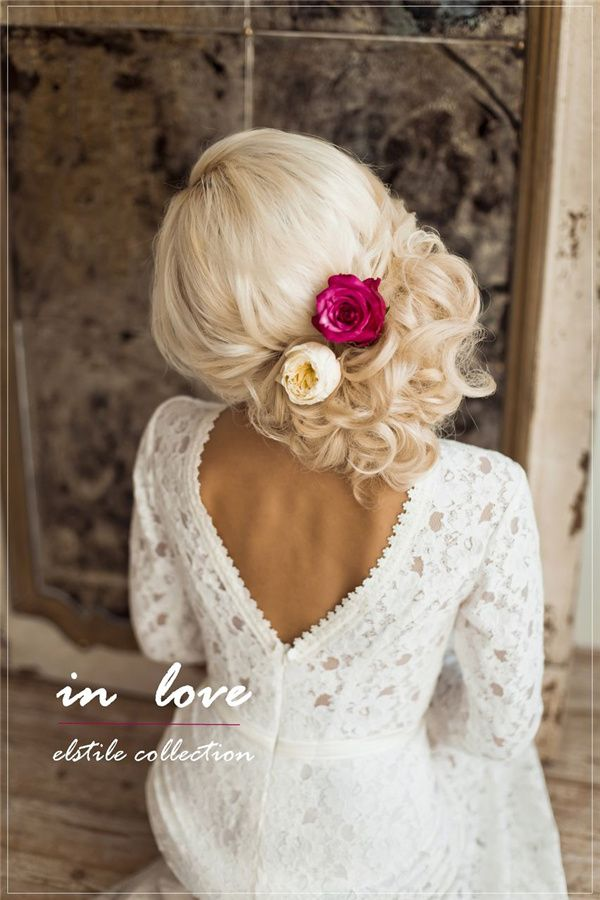 Wedding Hairstyles Side Loose Wedding Updo With Flowers Www