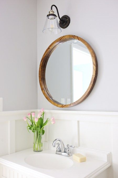 Diy Home : How to build a round wood framed mirror for less than $50 ...